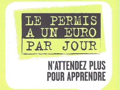 LE PERMIS À 1 EURO PAR JOUR